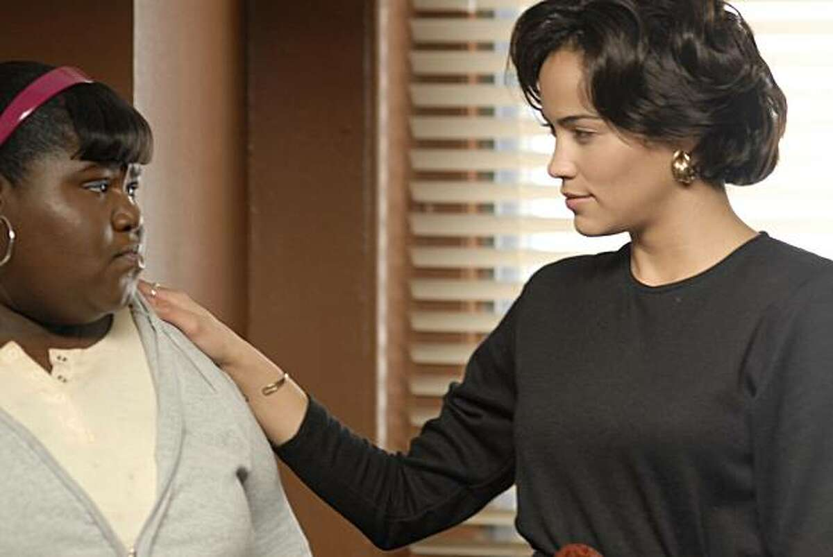 Precious (Gabourey Sidibe, left) and Ms. Rain (Paula Patton, right) in PRECIOUS: BASED ON THE NOVEL 'PUSH' BY SAPPHIRE.