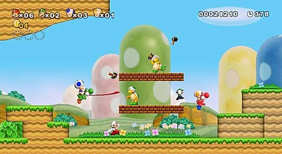 Mario Bros Wii Game Lives Up To Family Name Sfgate
