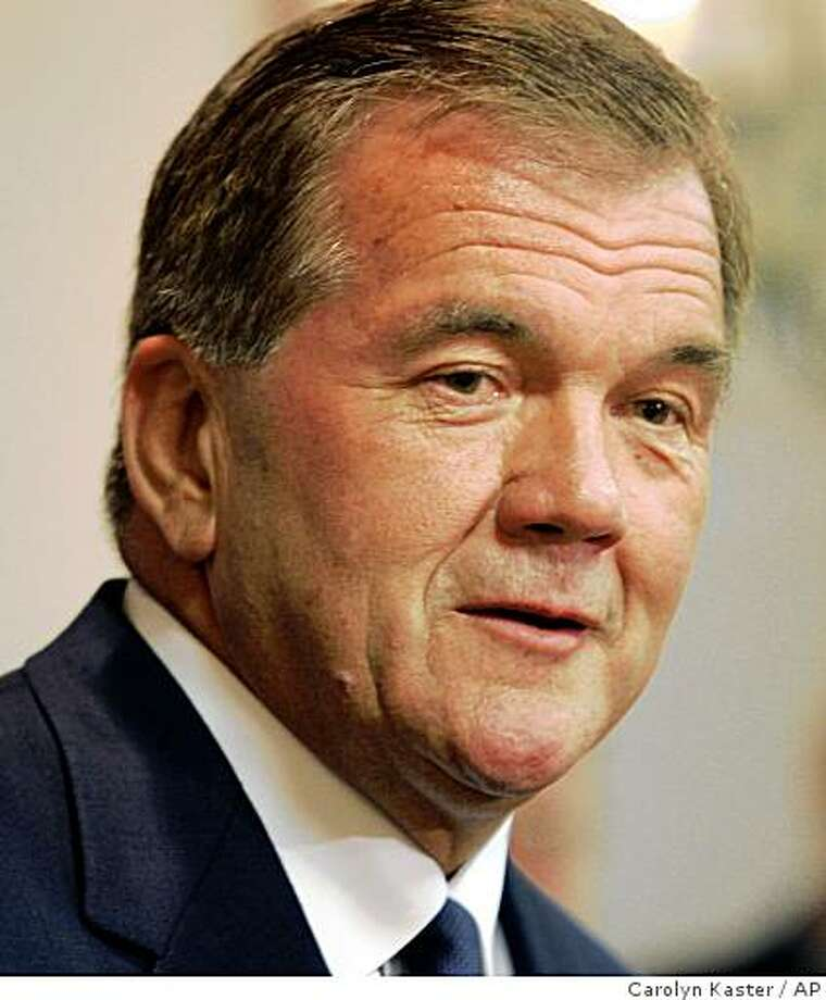Former Pennsylvania Gov. Tom Ridge talks during a news conference in New Cumberland, Pa., Tuesday, May 30, 2006. Ridge traveled across the state with Republican gubernatorial candidate Lynn Swann on Tuesday. (AP Photo/Carolyn Kaster) Photo: Carolyn Kaster, AP