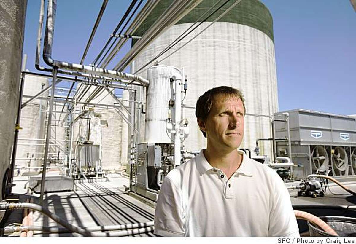 Joel Gott, winemaker and owner of The Ranch, a new winemaking facility in St. Helena, Calif., on June 16, 2008. This was the Sutter Home winery where it used to make all it's white zinfandel. Now it's a boutique facility where winemakers produce top-line cabernets and other wines.Photo by Craig Lee / The Chronicle