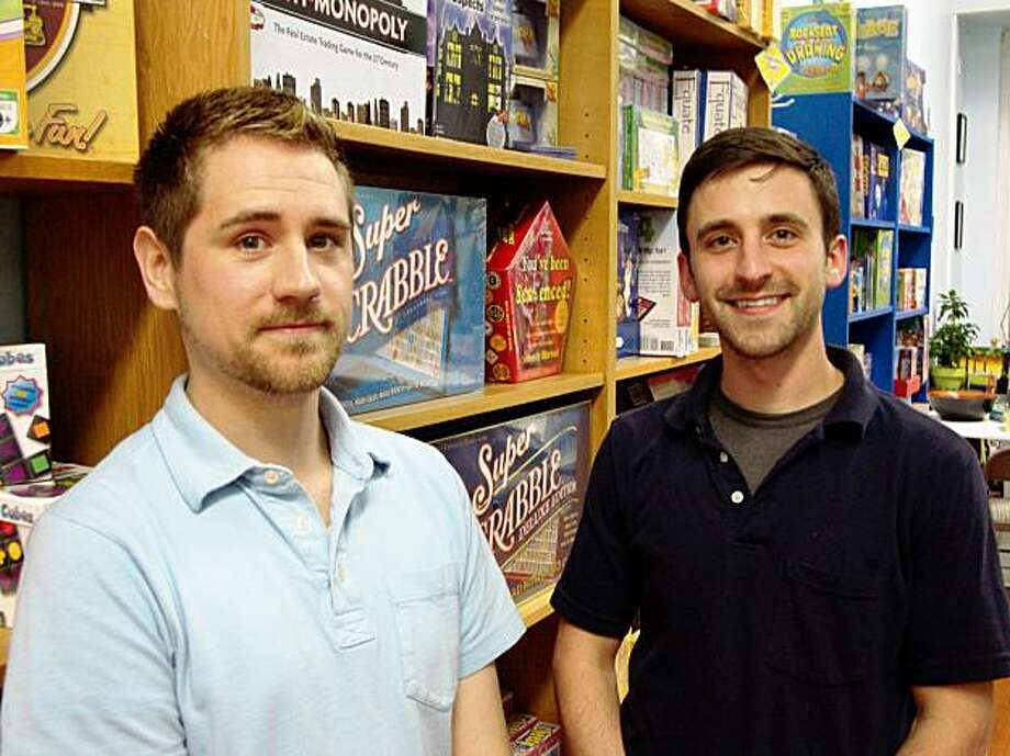 Shane Alan (left) and Erik Mantsch, owners of Just Awesome Board Game store, san francisco Shane Alan (left) and Erik Mantsch, owners of Just Awesome Board Game store, san francisco Photo: Alejandro Martinez-Cabrera