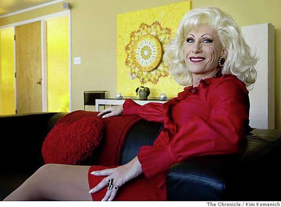 Drag queen Donna Sachet has become an unofficial ambassador and fundraiser for San Francisco's Castro District and the gay community. She performs weekly at Harry Denton's Starlite Room. She is photographed in her San Francisco home on Friday, June 6, 2008.Photo by Kim Komenich / The Chronicle Photo: Kim Komenich, The Chronicle