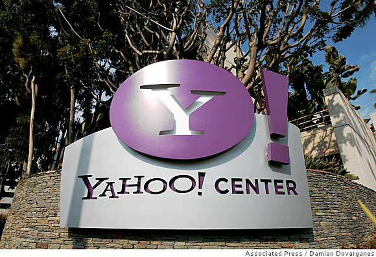 ** FILE ** The Yahoo Center office building is seen in Santa Monica, Calif. in this Feb. 2, 2008 file photo. Yahoo on Tuesday, March 18, 2008 said it expects to roughly double operating cash flow over the next three years and generate $8.8 billion in revenue after costs in 2010. (AP Photo/Damian Dovarganes, file)