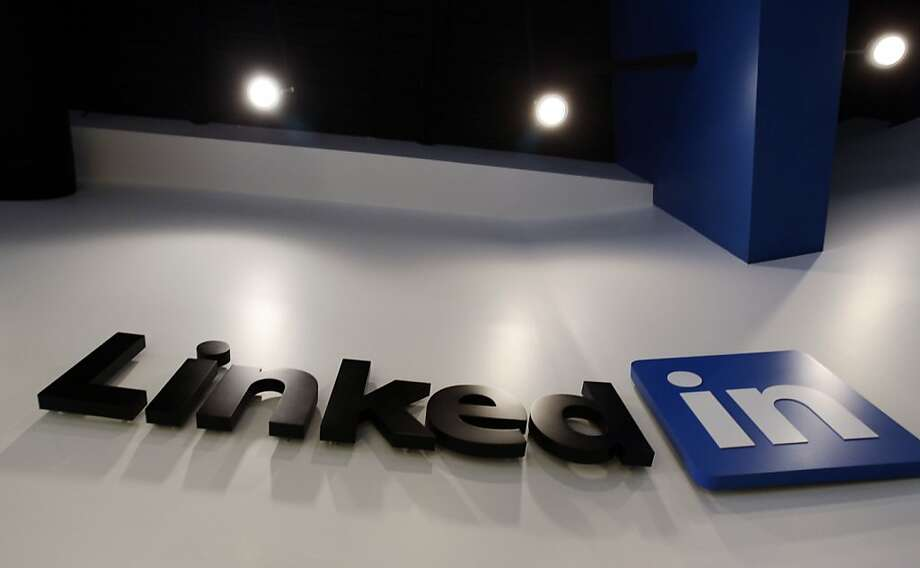 FILE - In this May 19, 2011 file photo,the LinkedIn logo is displayed in the foyer at headquarters in Mountain View, Calif. LinkedIn Corp., releases quarterly financial results Thursday, Feb. 9, 2012, after the market close. (AP Photo/Paul Sakuma, File) Photo: Paul Sakuma, Associated Press