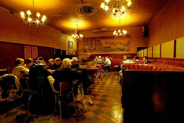 A large room to stretch out in at Tosca Cafe, near the corner of Broadway and Columbus in San Francisco, Calif., on November 13, 2009. The cafe will soon celebrate it's 90th birthday in business. Photo: Michael Macor, The Chronicle