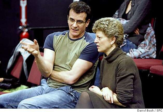 "Val Caniparoli (left) and ACT Artistic Director Carey Perloff at work on ""The Tosca Project"" Photo: Darryl Bush, SFC"