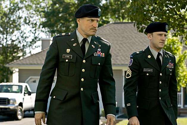 Woody Harrelson and Ben Foster in The Messenger Photo: Oscilloscope Pictures