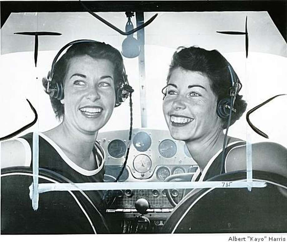 "Jan(left) Marion(right)Obit photo of Jan Dietrich, a pilot and member of the Mercury 13 Astronaut Training Program- Shown in this 1961 photo in the cockpit of a plane with her twin sister, Marion (right) who was also a member of the Mercury 13.The Dietrich twins, high flying queens of the sky who are in training at Oakland Airport for the 2400-mile women""s transcontinental air race starting Aug. 15 from Santa Ana. The twins, ex-University of California aces. they are sponsored by the Taloa Academy of Aeronautics and the San Mateo Chamber of Commerce. 7-23-57 Photo: Albert ""Kayo"" Harris"