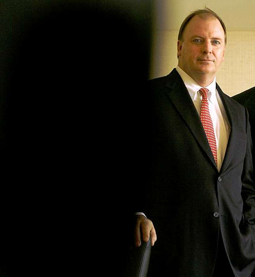 kevinryan_006_mac.jpg Attorneys Kevin Ryan and Bob Moore. Quasi-profile of Kevin Ryan, the former US Attorney who headed up the BALCO investigation. He's now in private practice, at the firm Allen Matkins, and teaming up with another lawyer (Bob Moore) to create a sports law group. We're doing a story about Ryan's take on BALCO, and touching on his new work with Moore. (cq) Kevin Ryan Bob Moore Photographed in, San Francisco, Ca, on 6/15/07. Photo by: Michael Macor/ The Chronicle Photo: Michael Macor, The Chronicle