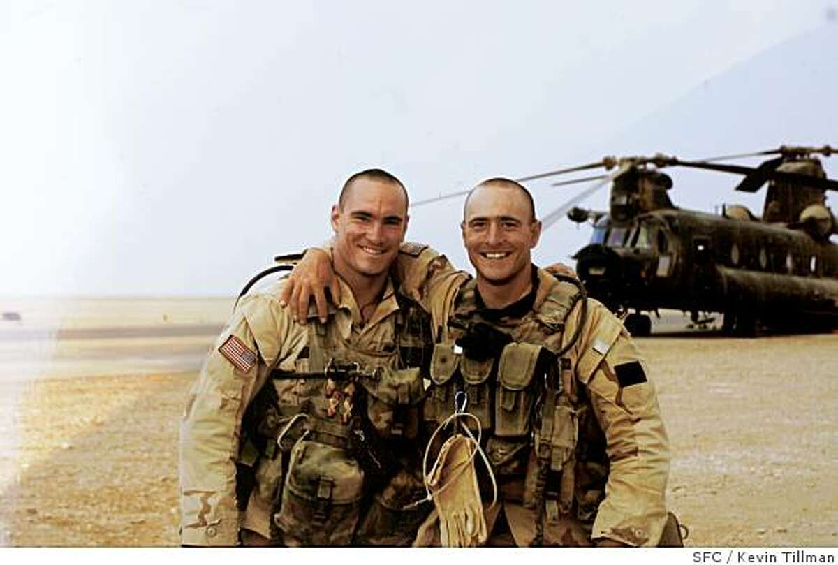 COPY PHOTO of (L)Pat Tillman and his brother (R) Kevin, in Saudi Arabia, 2003. Photo by Kevin TillmanProfile of Mary Tillman, mother of Pat Tillman (the football star who was killed by friendly fire in Afghanistan).