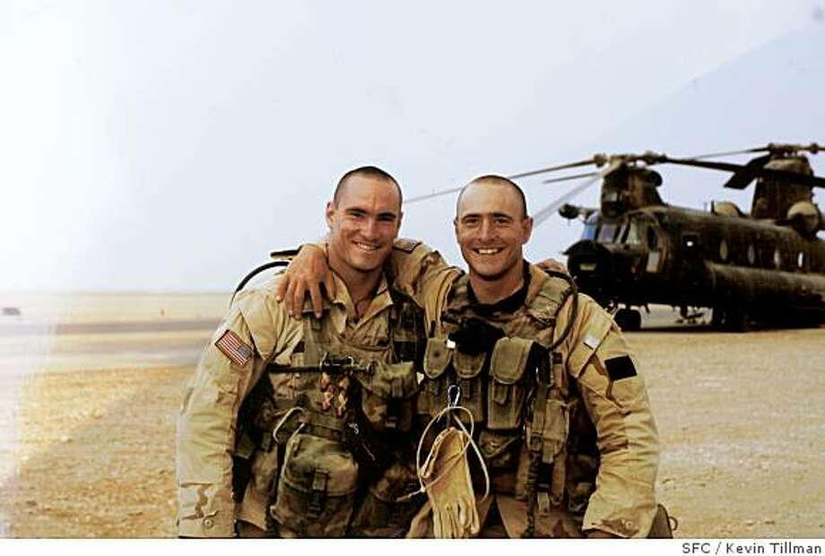 COPY PHOTO of (L)Pat Tillman and his brother (R) Kevin, in Saudi Arabia, 2003. Photo by Kevin TillmanProfile of Mary Tillman, mother of Pat Tillman (the football star who was killed by friendly fire in Afghanistan). Photo: Kevin Tillman, SFC
