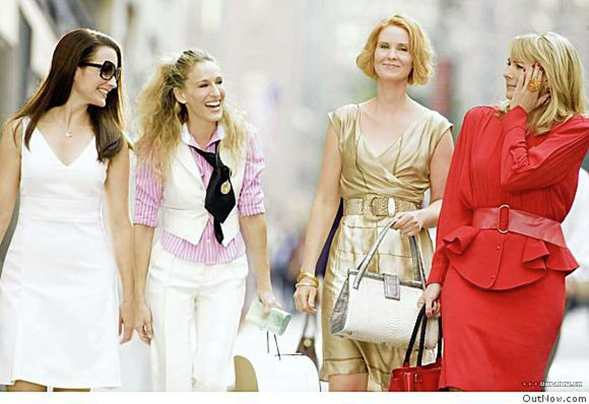 The cast from Sex In the City, The Movie.L-R: Kristin Davis, Sarah Jessica Parker, Cynthia Nixon and Kim Cattrall. The cast from Sex In the City, The Movie.L-R: Kristin Davis, Sarah Jessica Parker, Cynthia Nixon and Kim Cattrall.
