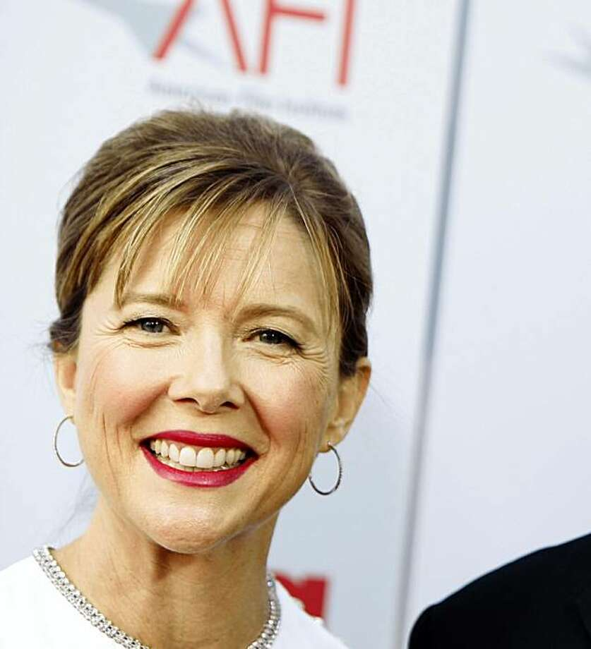Warren Beatty, right, and Annette Bening arrive at the American Film Institute Life Achievement Award dinner honoring  Beatty in Los Angeles on Thursday, June 12, 2008. Photo: Matt Sayles, AP