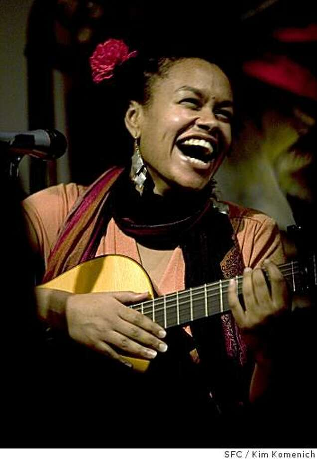 MEKLIT_021_KK.CR2 Meklit Hadero is an Ethiopian-born singer who lives in San Francisco who runs a co-op art place called the Red Poppy Art House. For her first CD release she has asked 14 artists to create 250 unique, original CD jackets.Photo by Kim Komenich/The Chronicle**Meklit Hadero Photo: Kim Komenich, SFC