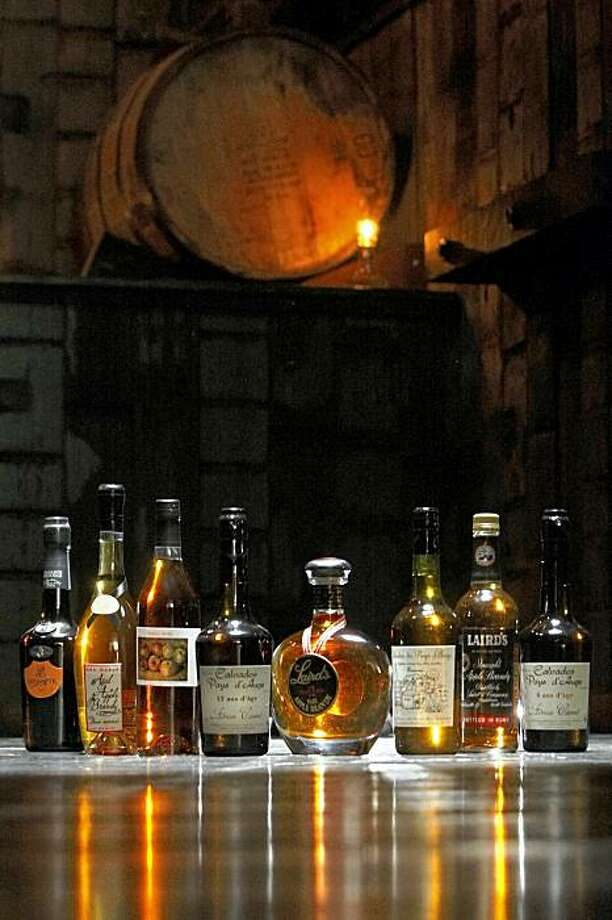 A selection of apple brandy at Rickhouse, a cocktail lounge in San Francisco's Financial District, Tuesday, November 10, 2009. Photo: Erin Lubin, Special To The Chronicle