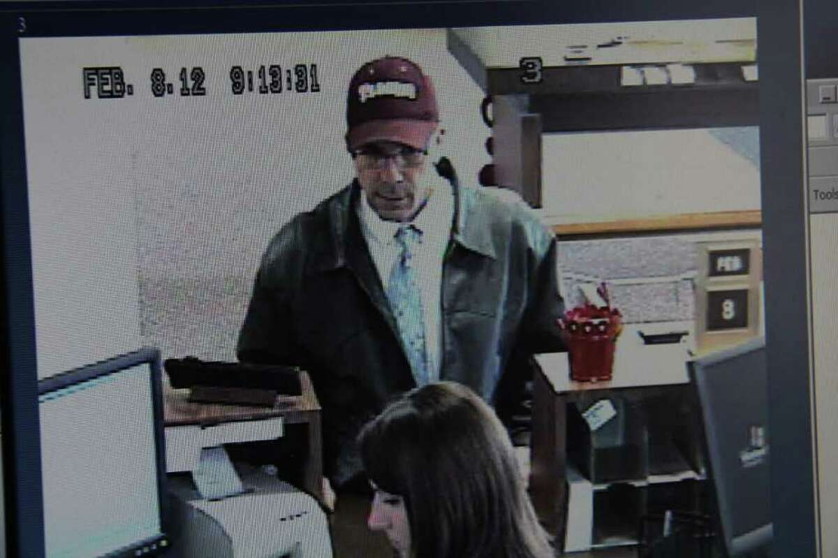 Surveillance footage at Prosperity Bank show a man who robbed the bank Wednesday.