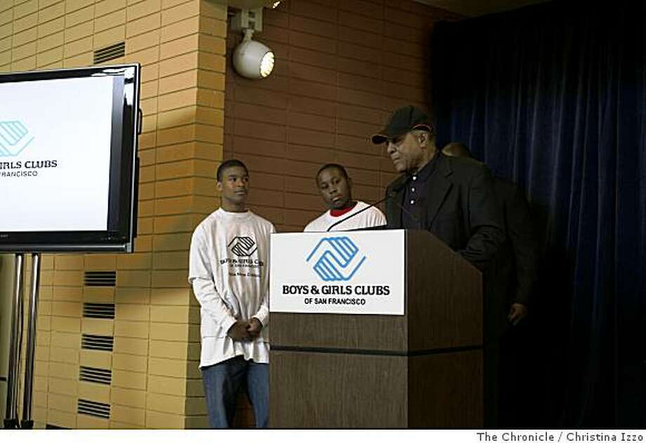 Willie Mays speaks at the Grand Opening Ceremony of the Willie Mays Boys and Girls Club in Hunters Point. Grand Opening of the Willie Mays Boys and Girls Club in Hunters Point provides a much needed center for the youths of Hunters Point San Francisco, Calif. Photo By Christina Izzo/ The Chronicle Photo: Christina Izzo, The Chronicle