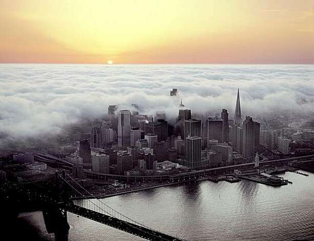 "One of Robert Cameron's ""Above San Francisco"" photographs.   Cameron died Tuesday at age 98. Photo: Robert Cameron"