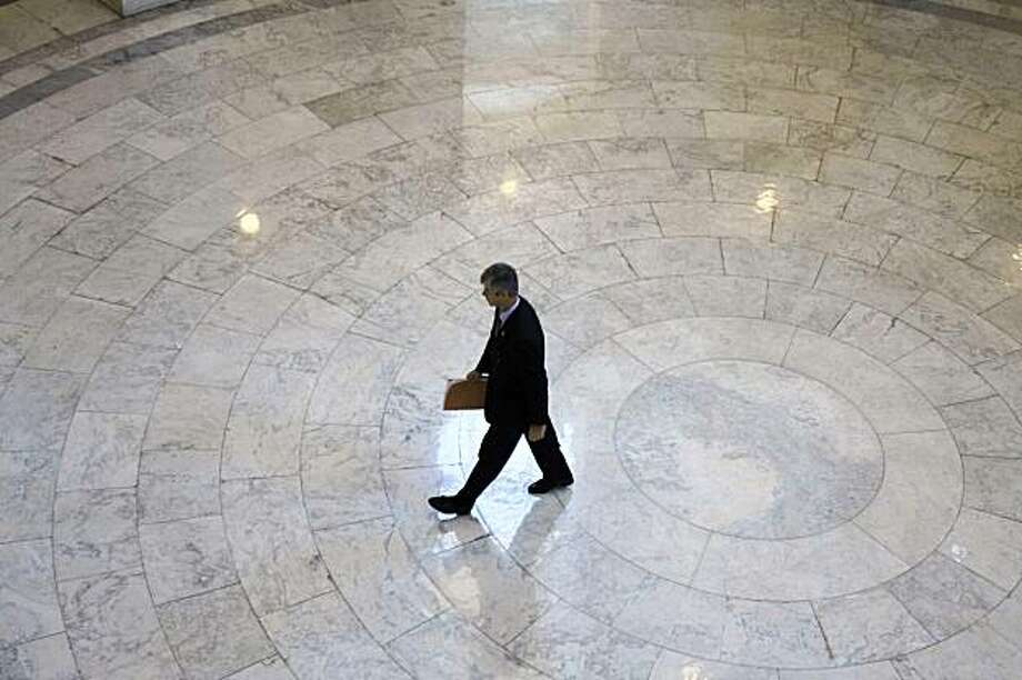 Rep. Bart Stupak, D-Mich., arrives for a meeting on pending health care legislation on Capitol Hill in Washington, Saturday, Nov. 7, 2009. (AP Photo/Harry Hamburg) Photo: Harry Hamburg, AP