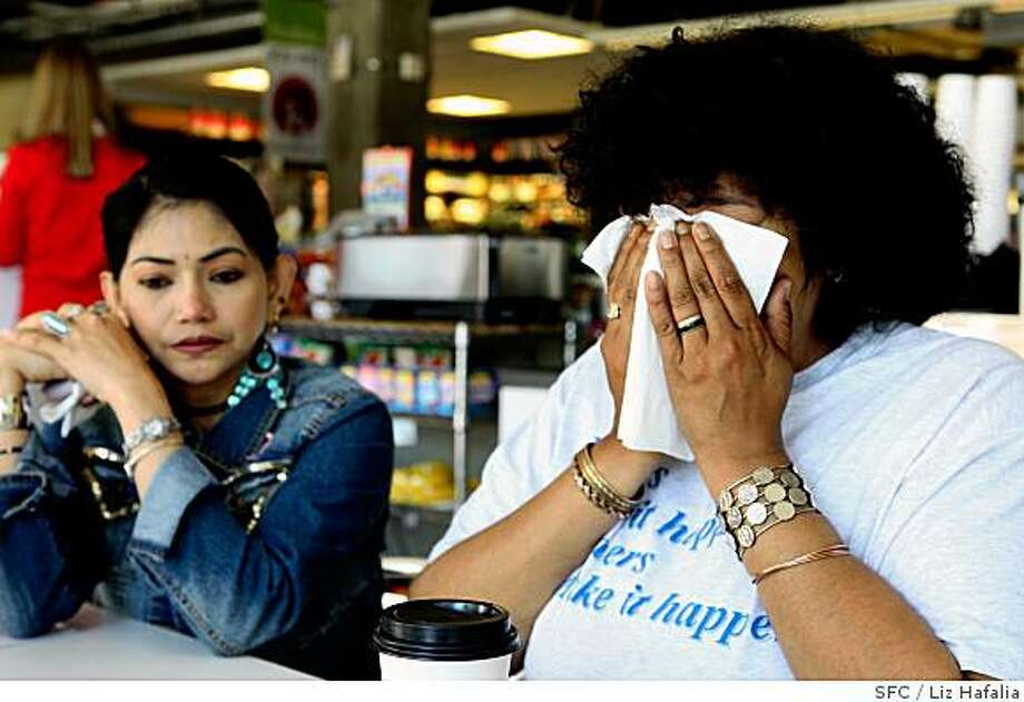 Annabel Goodrich, left, and Leticia Hernandez talk about their lives at Marian Residence for Women on Tuesday, May 13, 2008, and wonder where they will go when it closes.  The facility was established by St. Anthony's Foundation and is widely recognized as one of the city's best shelters for homeless women in San Francisco, Calif.   Photo by Liz Hafalia / San Francisco Chronicle Photo: Liz Hafalia, SFC