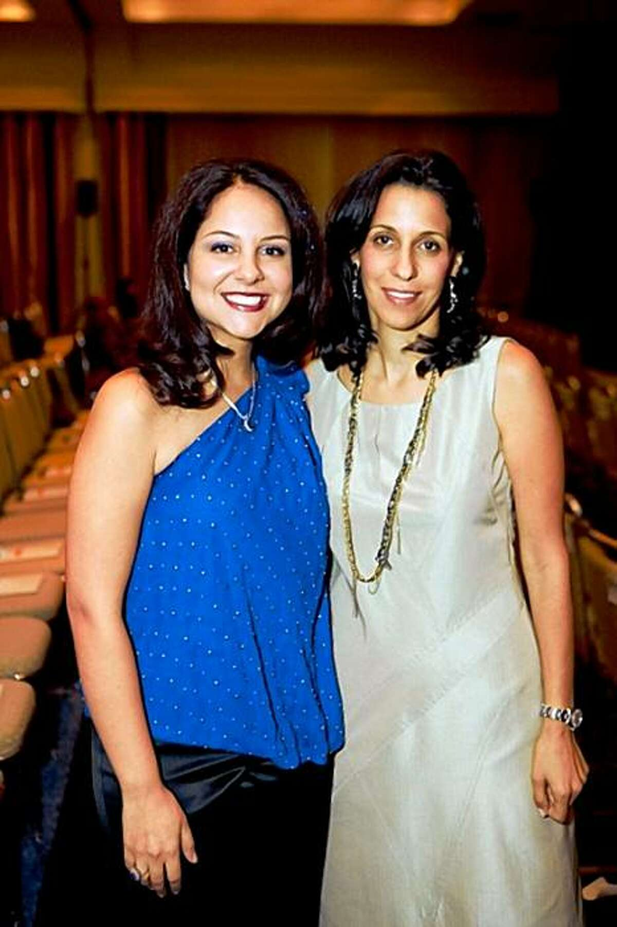 cq'd: Event co-chairs Lily Sarafan and Laili Javid at Parsa Community Foundation's Light the Way awards celebration on Oct. 18 at Sofitel San Francisco Bay in Redwood City. Lily Sarafan, Laili Javid