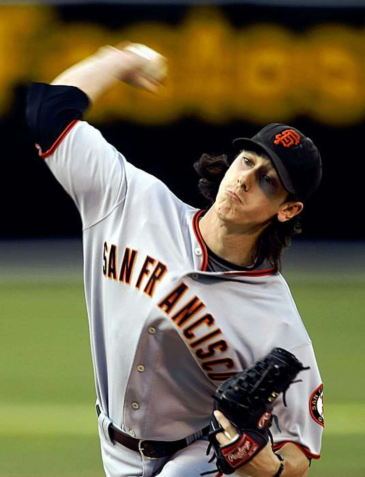 San Francsico starting pitcher Tim Lincecum. The San Francisco Giants take on the Oakland Athletics in the Battle of the Bay series on Tuesday June 23, 2009, in Oakland , Calif.