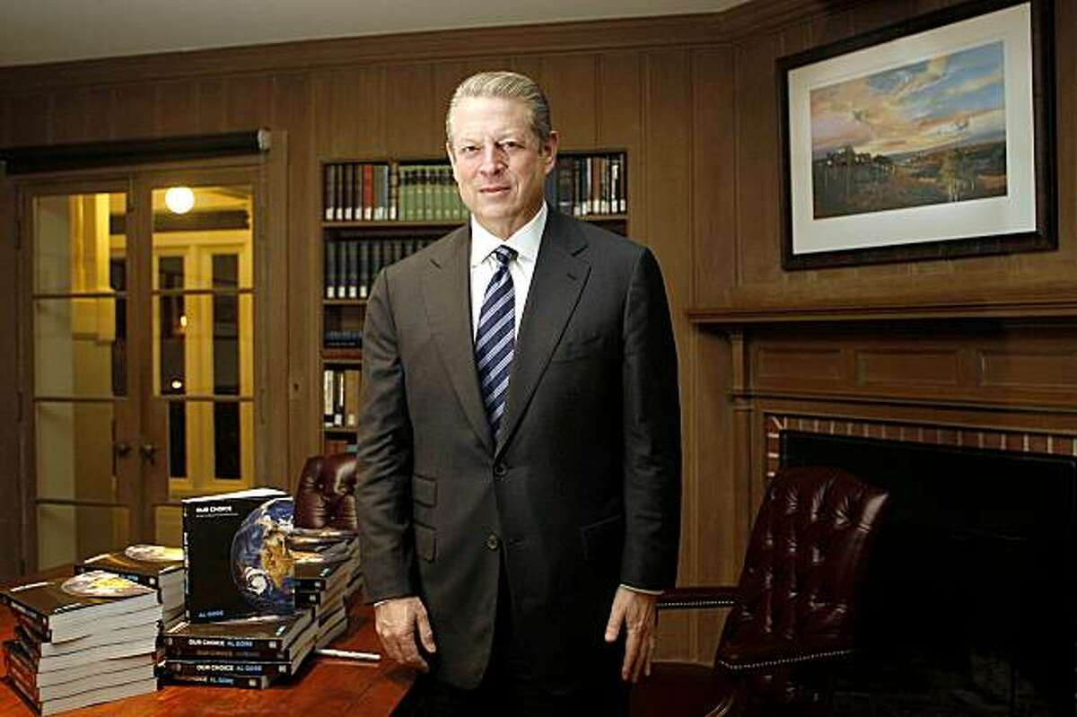 Al Gore talks about his new book at Dominican College in San Rafael, Calif., on Monday, November 9, 2009.