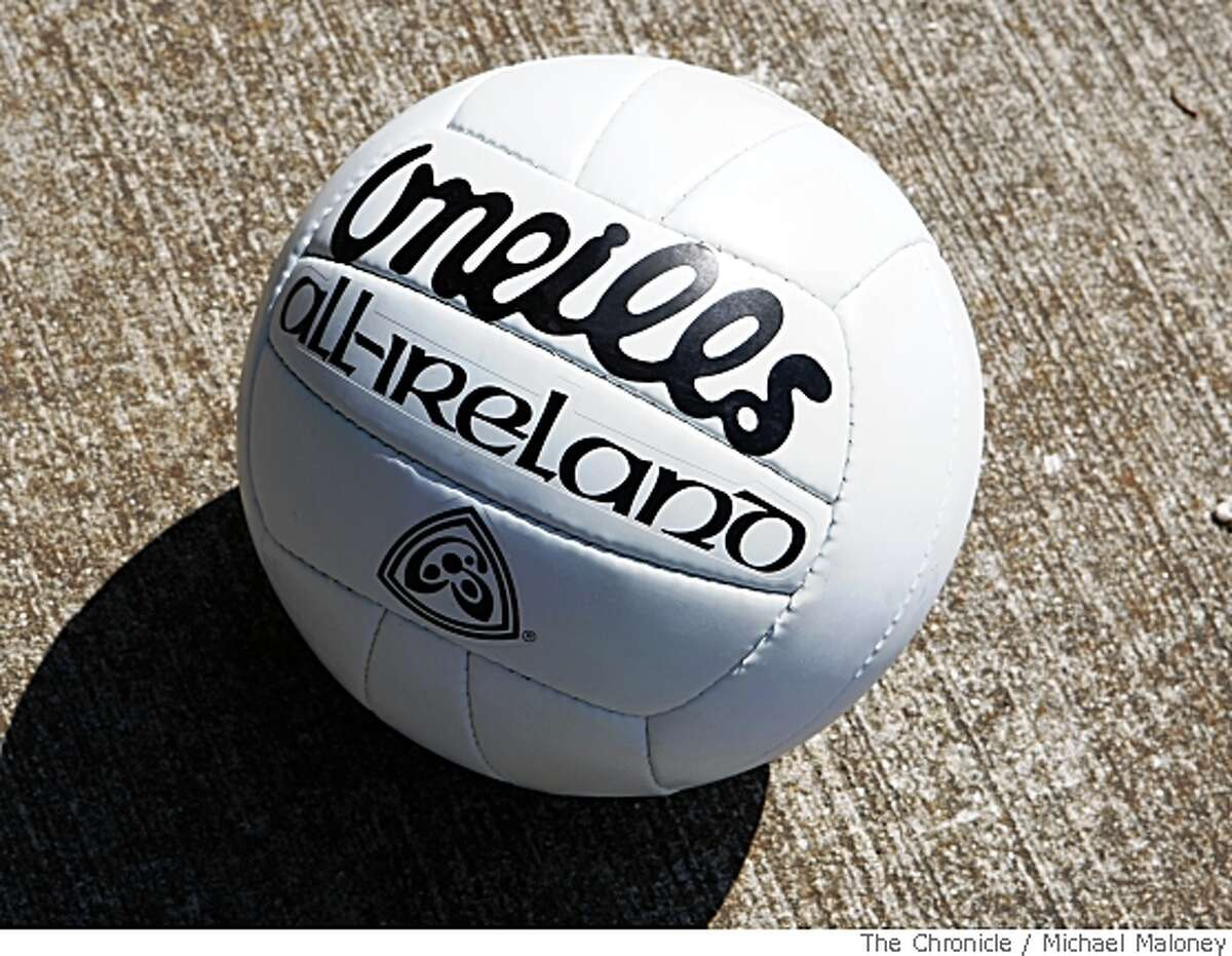 A Gaelic football is similar to a soccer ball, only smaller. Photo taken on April 20, 2008 in San Francisco, Calif.Photo by Michael Maloney / San Francisco Chronicle