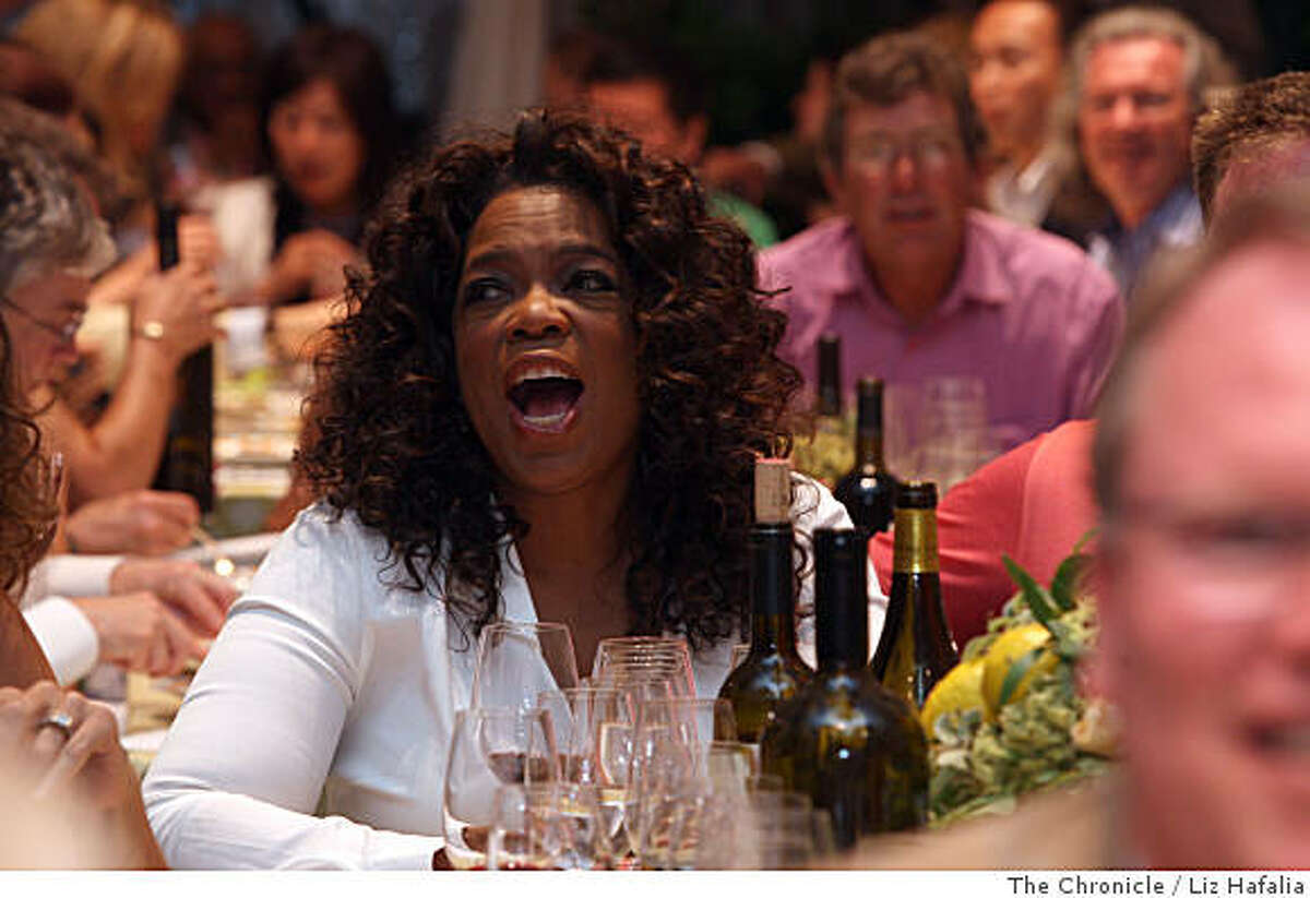 Oprah Winfrey at the annual Auction Napa Valley taking place on the golf course at Meadowood Resort in St. Helena, Calif., on Saturday, June 7, 2008.Photo by Liz Hafalia/The Chronicle