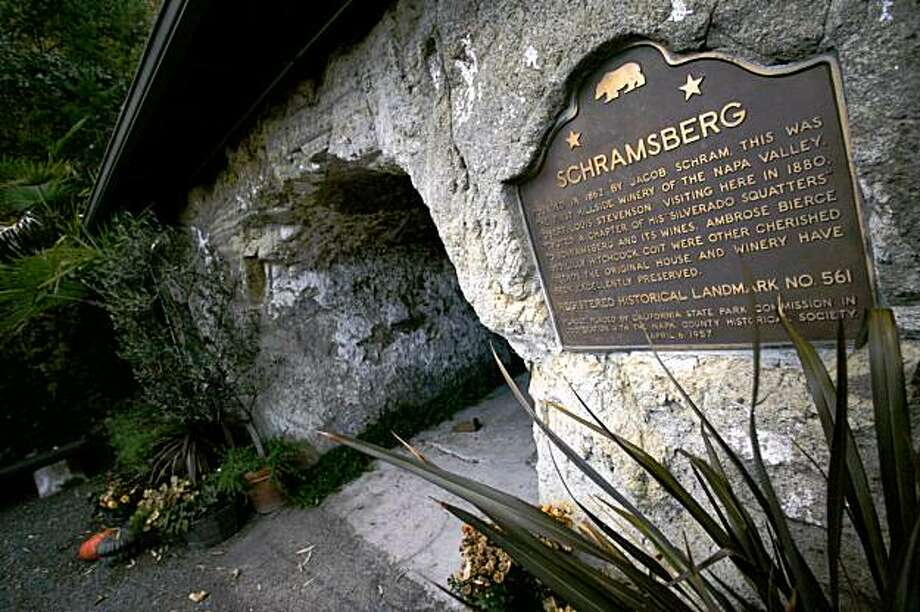 tk During his time in the Upper Napa Valley, author Robert Louis Stevenson spent time at what is now Schramsberg winery. The wine caves and Jacob Schram's house, where the winemaker and the author shared stories and sampled the wares, are still standing 129 years later. Photo: Spud Hilton Spud Hilton,  The Chronicle