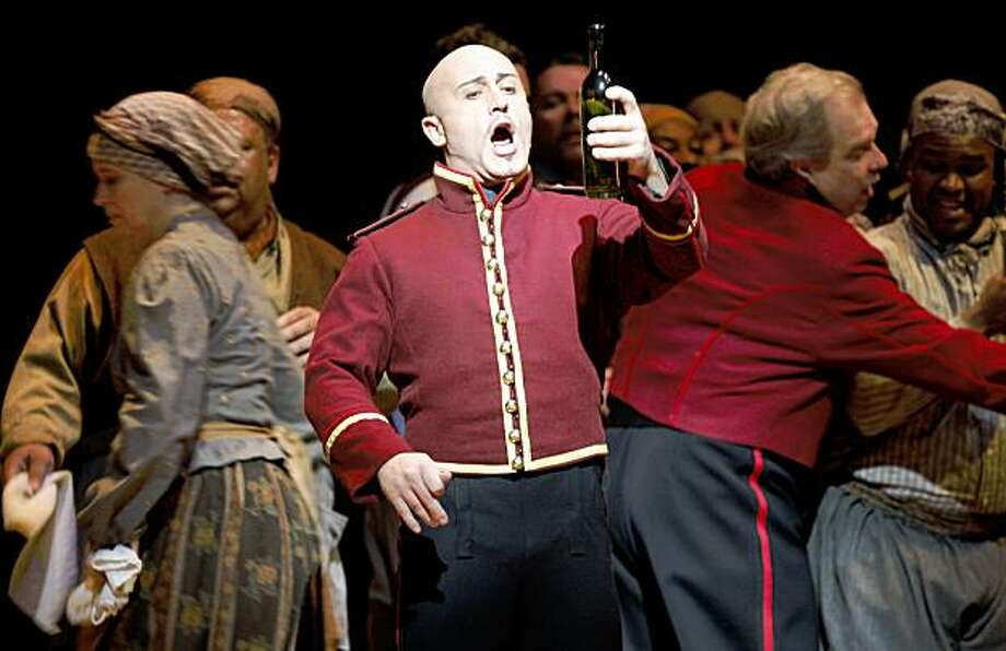 Marco Vratogna plays Lago in San Francisco Opera production of Otello Thursday Nov 5, 2009 Photo: Lance Iversen, The Chronicle