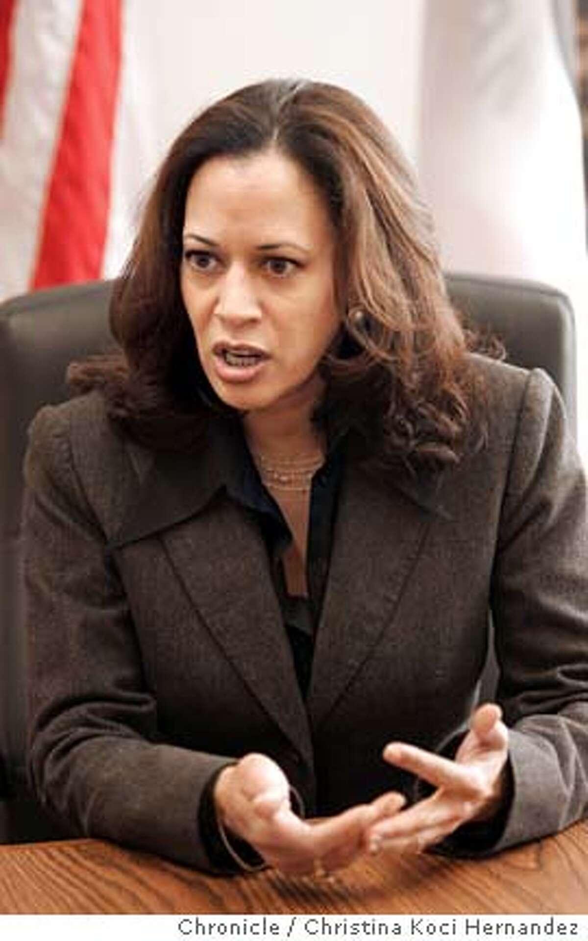 CHRISTINA KOCI HERNANDEZ/CHRONICLE We're doing a two year anniversary story on SF District Attorney Kamala Harris.