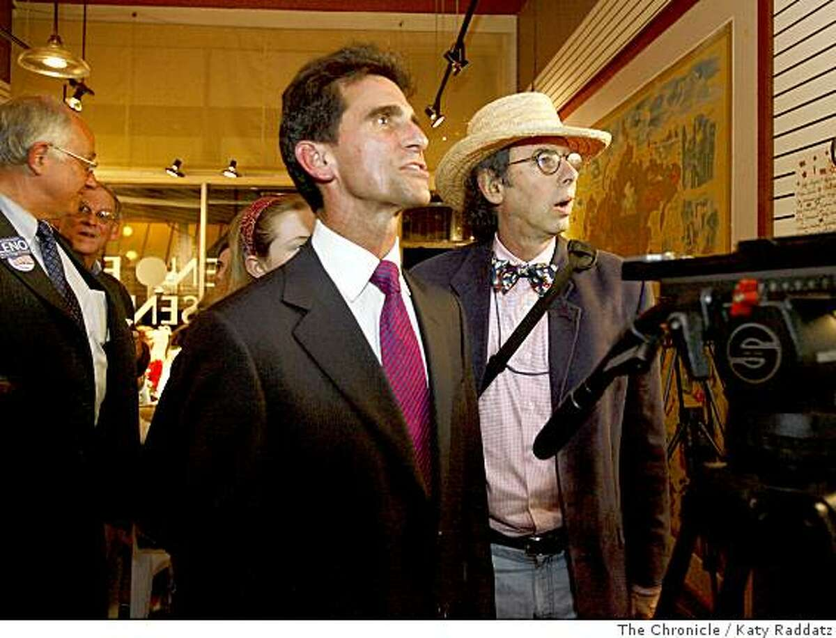 Mark Leno grabs a look at early returns at his campaign headquarters in San Rafael.Photo by Katy Raddatz / The Chronicle