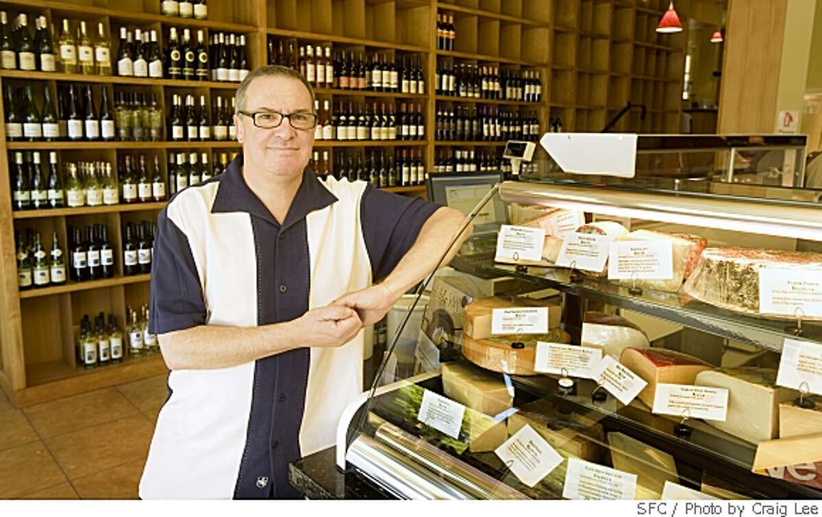 Jeff Diamond, owner of Farmstead Cheeses and Wines store in Montclair neighborhood of Oakland, Calif., on May 26, 2008. Photo by Craig Lee / The San Francisco Chronicle