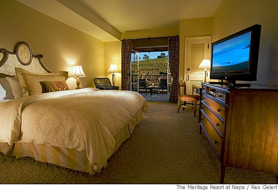 TRAVEL NAPA MERITAGE -- Meritage King Room Photo: Rex Gelert, The Meritage Resort At Napa