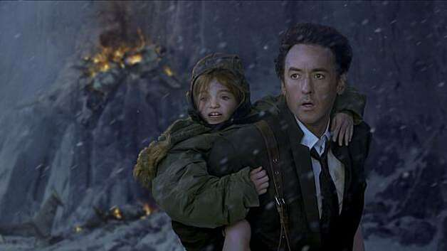 John Cusack and Lily Morgan (left), in Columbia Pictures' 2012. The action film will be released November 13, 2009. Photo: Joe Lederer, © 2009 Columbia TriStar