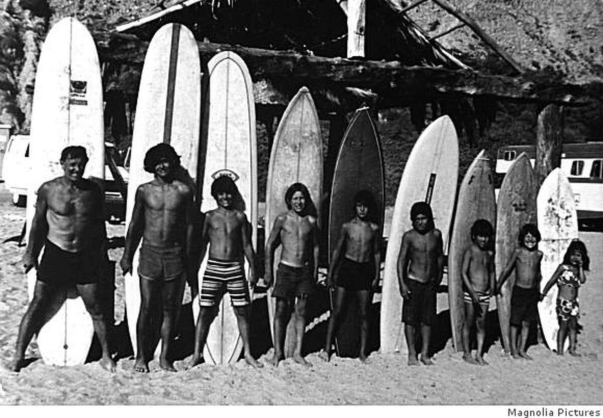 The Paskowitz family in a scene from SURFWISE documentary