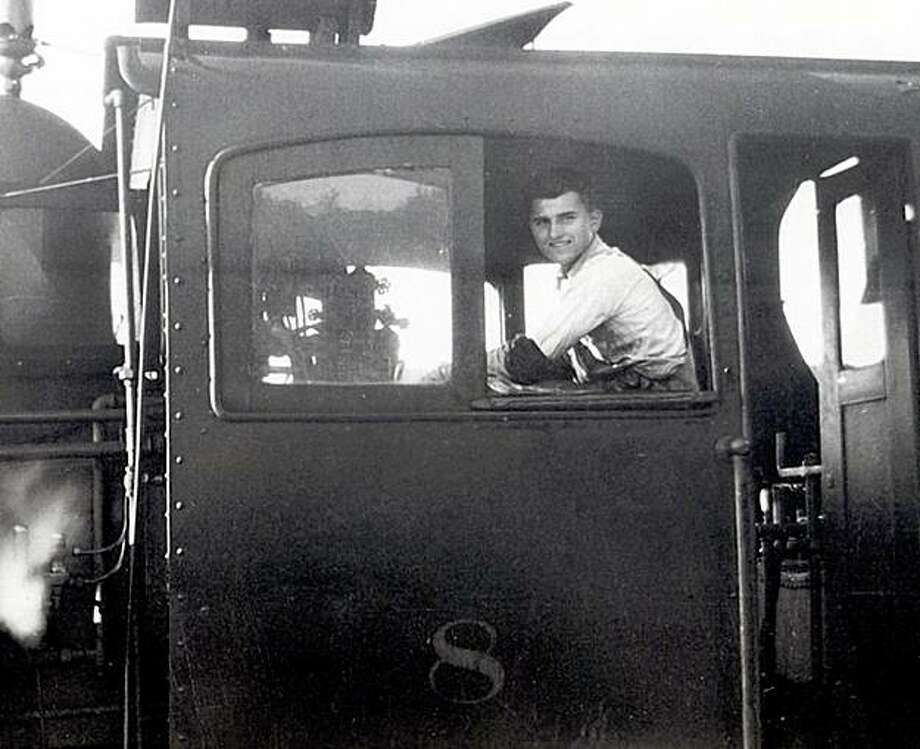 Bill Provines in the cab of one of the mountain trains. Photo: Courtesy Of The Provines Family