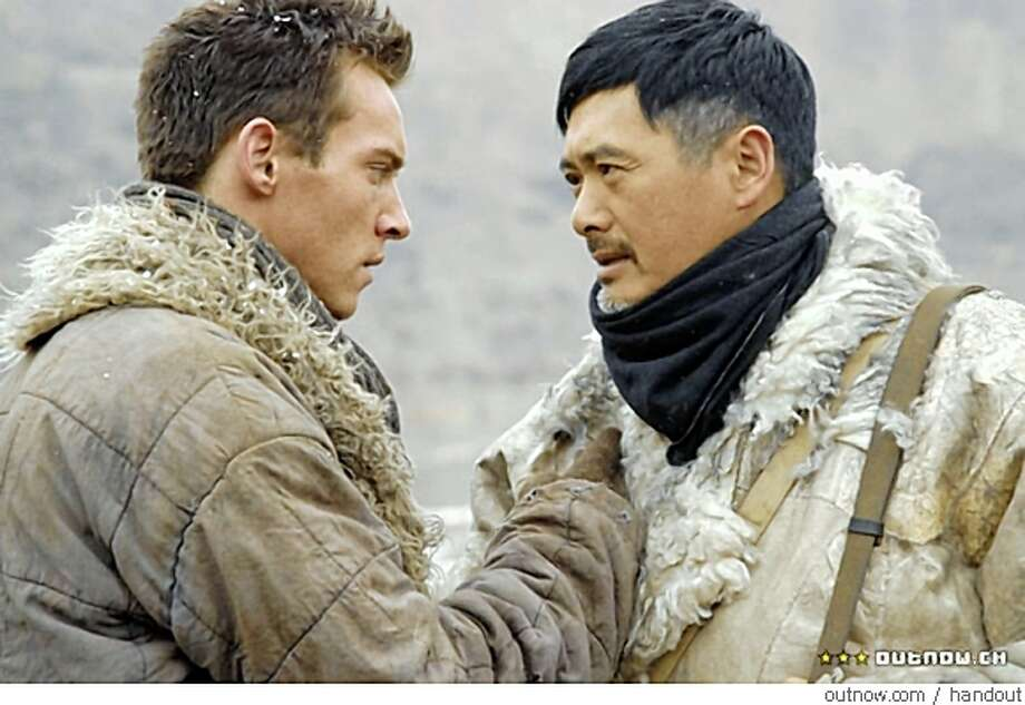 Jonathan Rhys Meyers, left, and Yun-Fat Chow in THE CHILDREN OF HUANG SHI Photo: Handout, Outnow.com