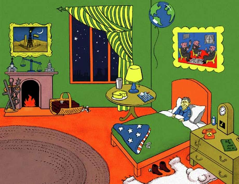 "inside illustration from ""Goodnight Bush"" Photo: Ho / ONLINE_YES"
