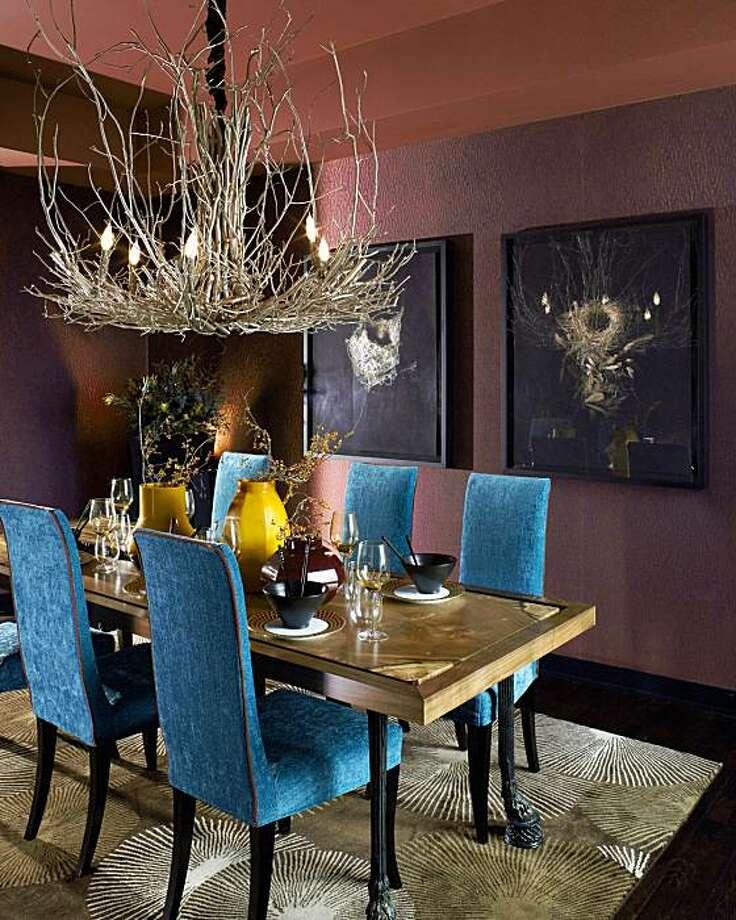 The Nancy Van Natta-designed dining room at Millenium Tower's showcase. Photo: David Duncan Livingston