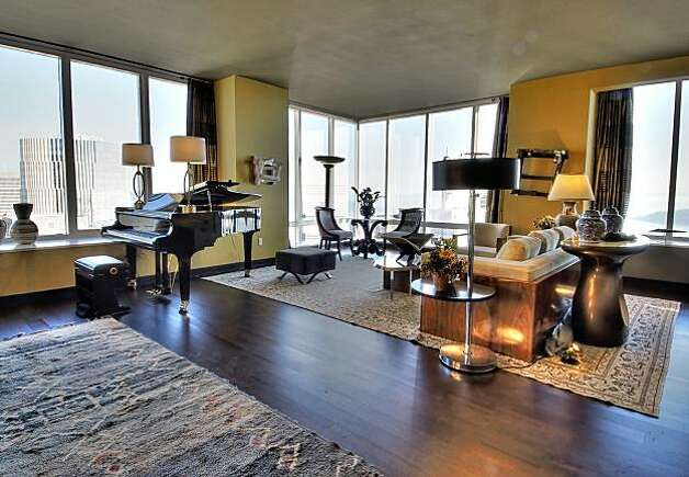 The Joel Hendler-designed living room at Millenium Tower's showcase. Photo: Robert Whitworth Creative