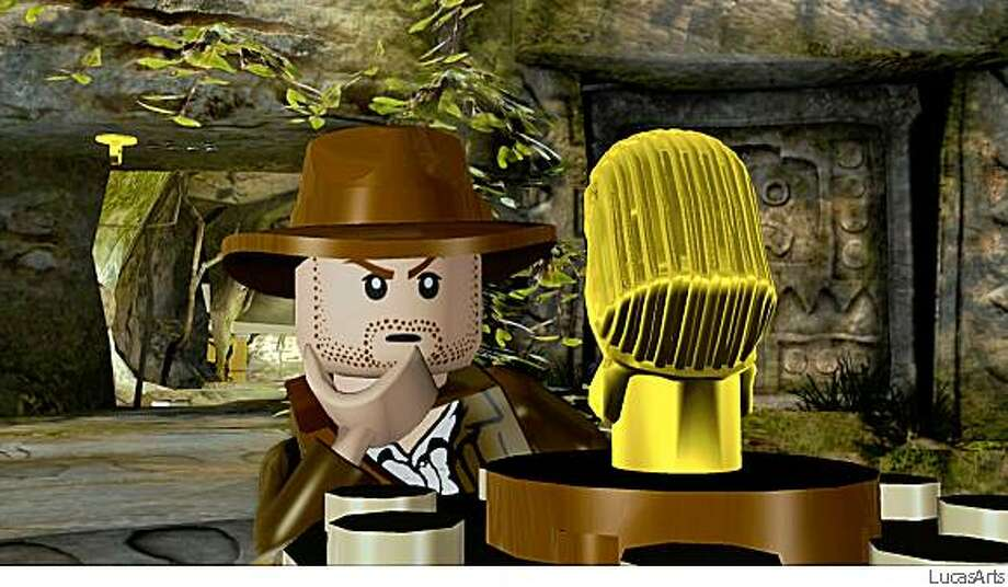 "screengrabs from LEGO Indiana Jones: The Original AdventuresLego Indiana Jones features classic scenes from ""Raiders of the Lost Ark"" and other movies. Photo: LucasArts"