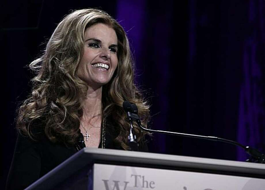 Maria Shriver speaks at the Women's Conference on Tuesday, Oct. 27, 2009, in Long Beach, Calif. (AP Photo/Reed Saxon) Photo: Reed Saxon, AP