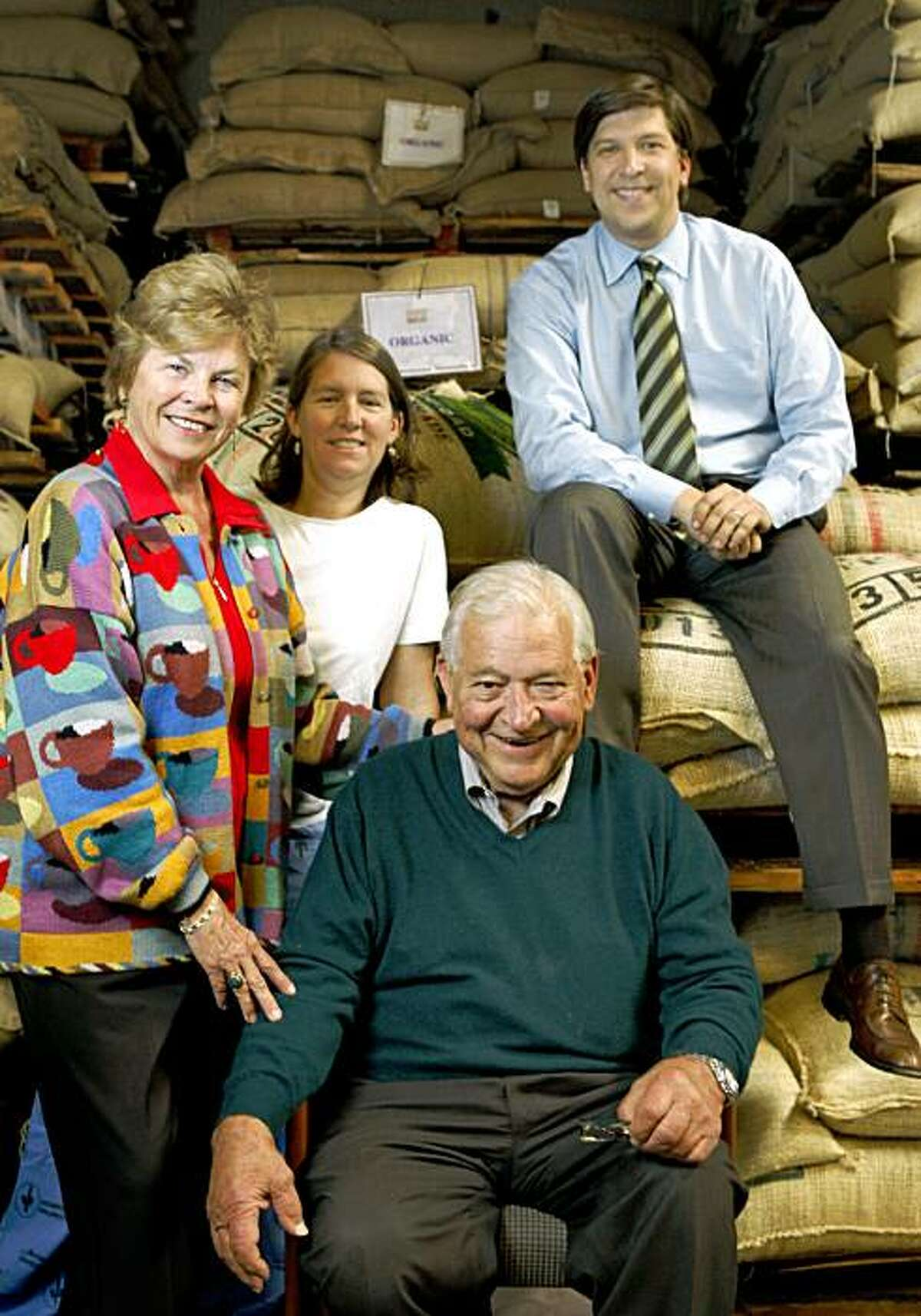 George Vukasin Sr.,  is joined in the Oakland warehouse by his family, wife Sonja Vukasin, daughter Kristina Vukasin-Brouhard and son, George Vukasin Jr Friday Oct. 30, 2009.