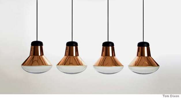 Blow Light: British designer Tom Dixon's lamp is the latest in his copper shade series, inspired by and made by craftsmen in Asia. Photo courtesy of Tom Dixon Photo: Unknown