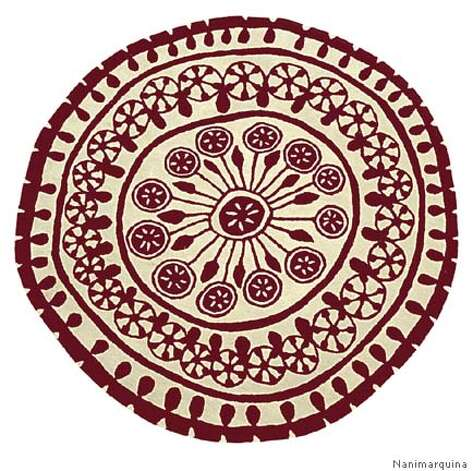 Rangoli rug: Rangoli, by Spanish designer Nanimarquina, is made by traditional carpet weavers in India. Photo courtesy of Nanimarquina