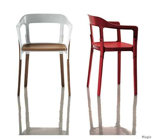 The new Steelwood chair by French designers Ronan and Erwan Bouroullec for Magis is an example of the the kind of reccyling that designers are building into their work. The steel and wood components are easy to dismantle and this idea has been mandated in Europe for a variety of companies including car manufacturers. Photo: Courtesy Magis