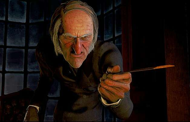 "Ebenezer Scrooge (JIM CARREY) in ""Disney's A Christmas Carol."" Photo: ""©ImageMovers Digital LLC."