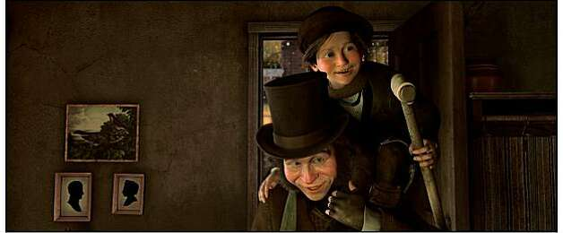 "Bob Cratchit, Tiny Tim (GARY OLDMAN) in ""Disney's A Christmas Carol."" Photo: ""©ImageMovers Digital LLC. All R"